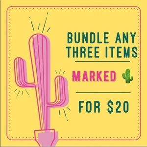 Other - Bundle Any 3 Items with 🌵 for $20